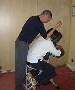 seated shiatsu