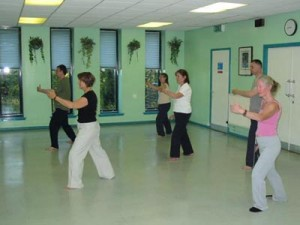 Taiji classes at Stewartfield Community Centre, East Kilbride.