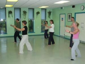 Taiji classes at Stewartfield Community Centre, East Kilbride.
