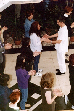 Des Lawton teaching the Taiji Shibashi during a Pro-Holistic course