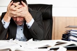 hard day at the office - stress kills but stress management can defeat stress