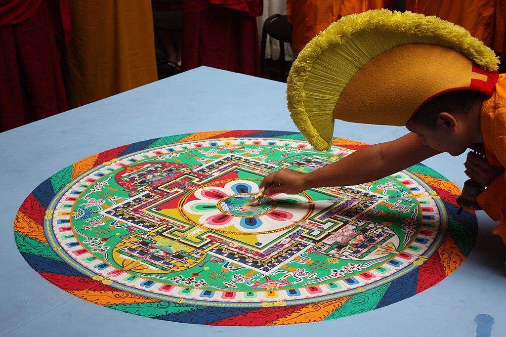 Many paths to the same destination - Sand mandala